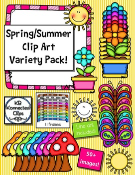 Spring and Summer Clip Art Variety Pack