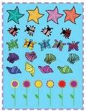 Spring and Summer Clipart (shells, flowers, butterflys, la