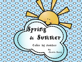 Spring and Summer Color By Numbers