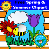 Spring and Summer Nature & Flowers Clipart (10 Free Images)