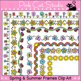 Borders - Spring and Summer Frames / Borders Clip Art - Commercial Use Okay