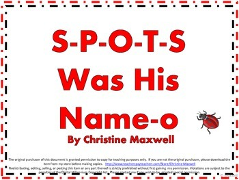 Spring and Summer Ladybug Song And Posters S-P-O-T-S Was H