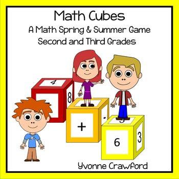 Spring and Summer Math Cubes (2nd and 3rd grade)