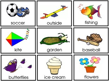 spring and summer picture word flashcards word cards and activities