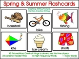 Spring and Summer Picture Word Flashcards, Word Cards and