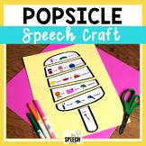 Summer Popsicle Speech Craft