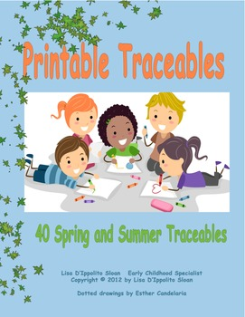 Spring and Summer Printable Traceables