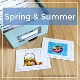Spring and Summer - Speech and Language Photo Cards