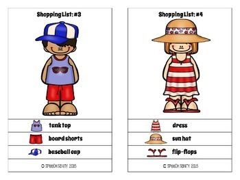 Spring and Summer Stylist: Expressive & Receptive Language Activities