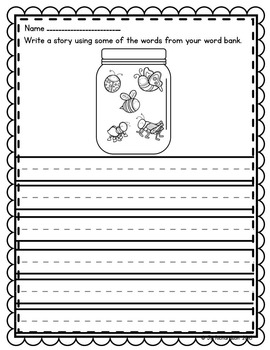 Spring Writing  Label It!  Write About It!  Great ESL Activities Too!