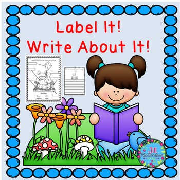 ESL Spring Writing  Label It!  Write About It!