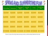 Spring and Summertime Jeopardy
