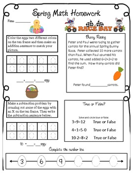 Spring and Test Prep Common Core Aligned ELA and Math Packet