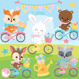 Spring animals clipart commercial use, vector graphics  - CL1126