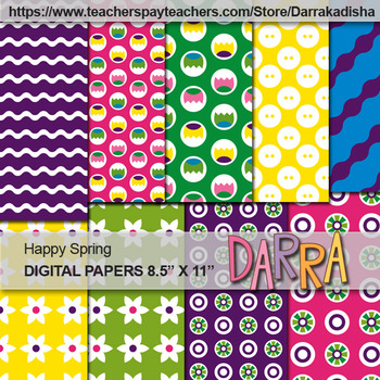 Spring background - digital papers - commercial use