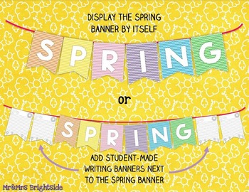 Spring banner and student made banner FREEBIE