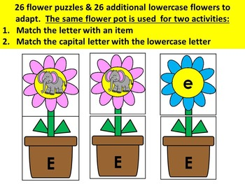 Spring beginning sounds & capital to lowercase matching literacy center