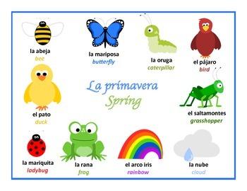 bilingual spanish posters spring theme