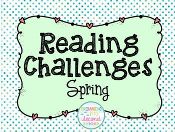Spring break reading challenge freebie