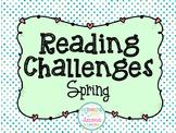 Spring break reading challenge freebie