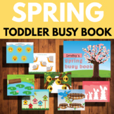 Spring busy book for toddlers, Toddler learning Binder