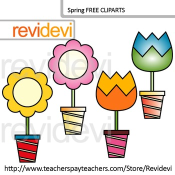 Spring clip art FREE resource