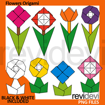 Spring clip art - Flowers Origami clipart