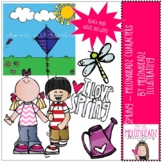 Spring clip art - Melonheadz Characters - Mini - by Melonh
