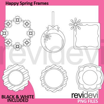 Spring clip art frames