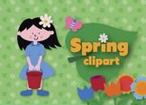 Spring clip art set