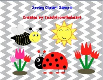 Spring clipart FREEBIE