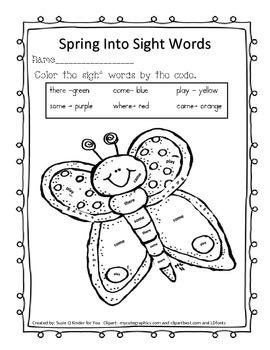 Spring color a sight word