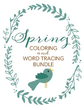 Spring coloring and tracing sheets