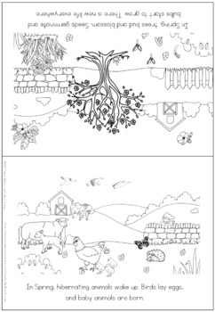 Spring coloring booklet