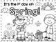 Spring coloring page FREEBIE