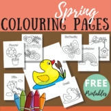 Spring colouring pages