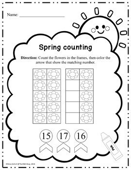 Spring counting 1-20 --- 5 activities included
