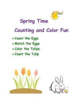 Spring counting and coloring fun.