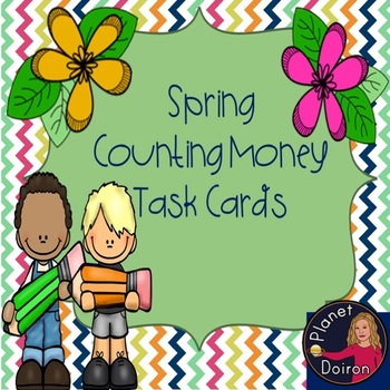 Spring counting money task cards