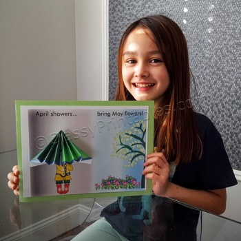 """Spring craft for kids """"April Showers Bring May Flowers"""" and FREE lesson"""