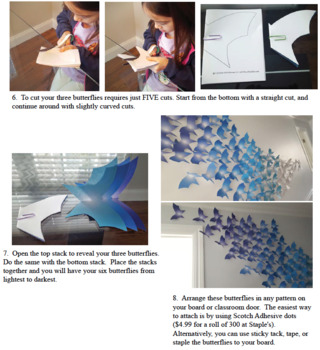 Group craft for kids Spring glow butterfly wall and FREE photosynthesis pages