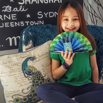 Spring craft for kids fantail peacock and FREE photosynthesis coloring pages