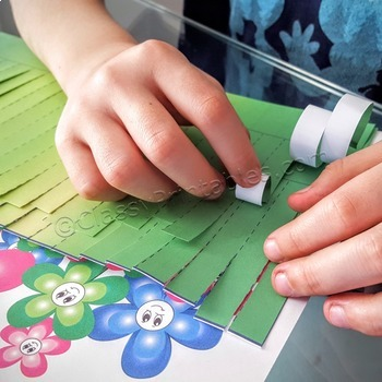 Spring craft for kids field of flowers and FREE photosynthesis coloring pages