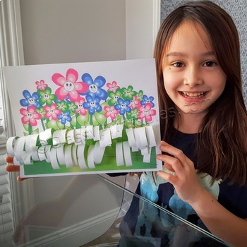 Spring craft for kids field of flowers and FREE photosynth