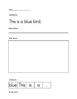 Spring cut up sentences, common core