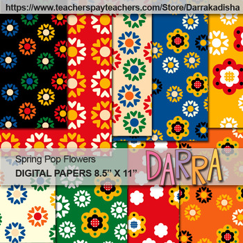 Spring digital papers cover page background