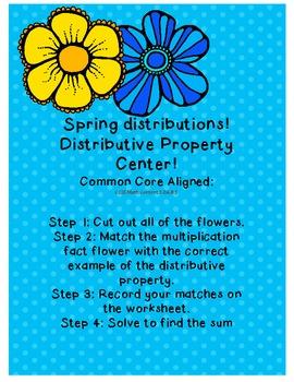 Spring distributions! DIstributive property FREEBIE!!!