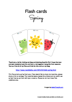 Spring flashcards