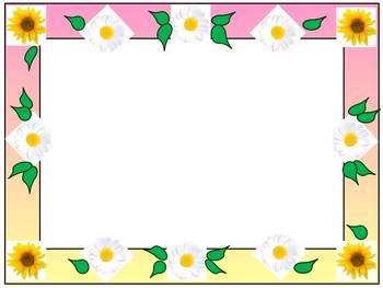 Spring Activities - Frames - Borders - Flowers