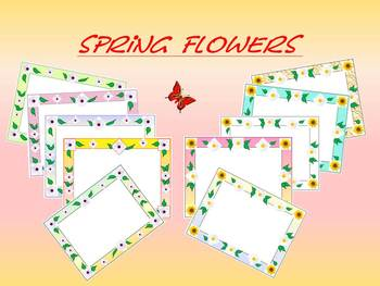 Frames - Borders - Flowers - Personal or Commercial Use